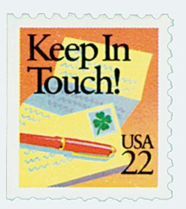 1987 22c Keep in Touch! stamp #2274