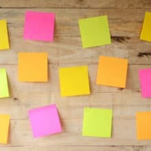 Saturday Orange Sticky Notes Letter Writing