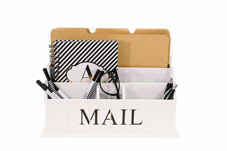 Blu Monaco Desk Mail Letter Organizer