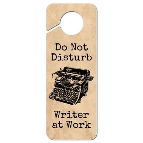 Graphics & More Typewriter Inspired Writer at Work Door Knob Sign