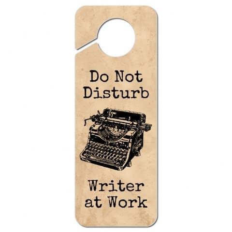 Graphics & More Typewriter Inspired Writer at Work Door Knob Sign