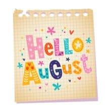 Hello August Letter Writing Goal Setting