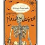 Cavallini Halloween Glitter Vintage Postcards