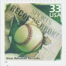 Exciting 2000 New Baseball Records USPS Stamp!