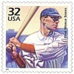 First World Series 1998 Stamp, 32 cents,USPS, Mystic Stamp Company