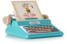 Hallmark Peanuts Typewriter Sentiment Holder