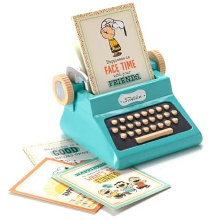 Letter Writing Desk Must Have – Hallmark Peanuts Typewriter Sentiment Holder