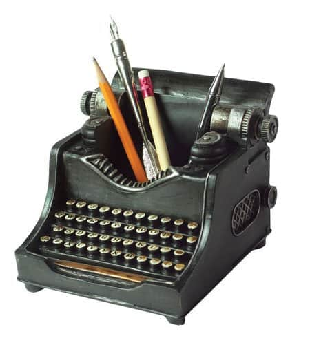 Typewriter themed Pencil Cups