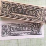 Large Letter Slot Rubber Stamp