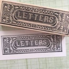 Large Letter Slot Rubber Stamp