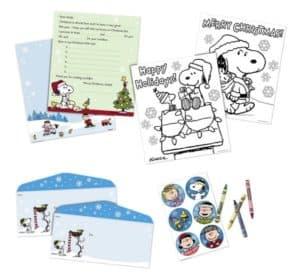 Peanuts Letters to Santa Holiday Notepad Kit