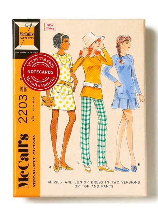 Discovering McCall's Vintage Patterns Notecards