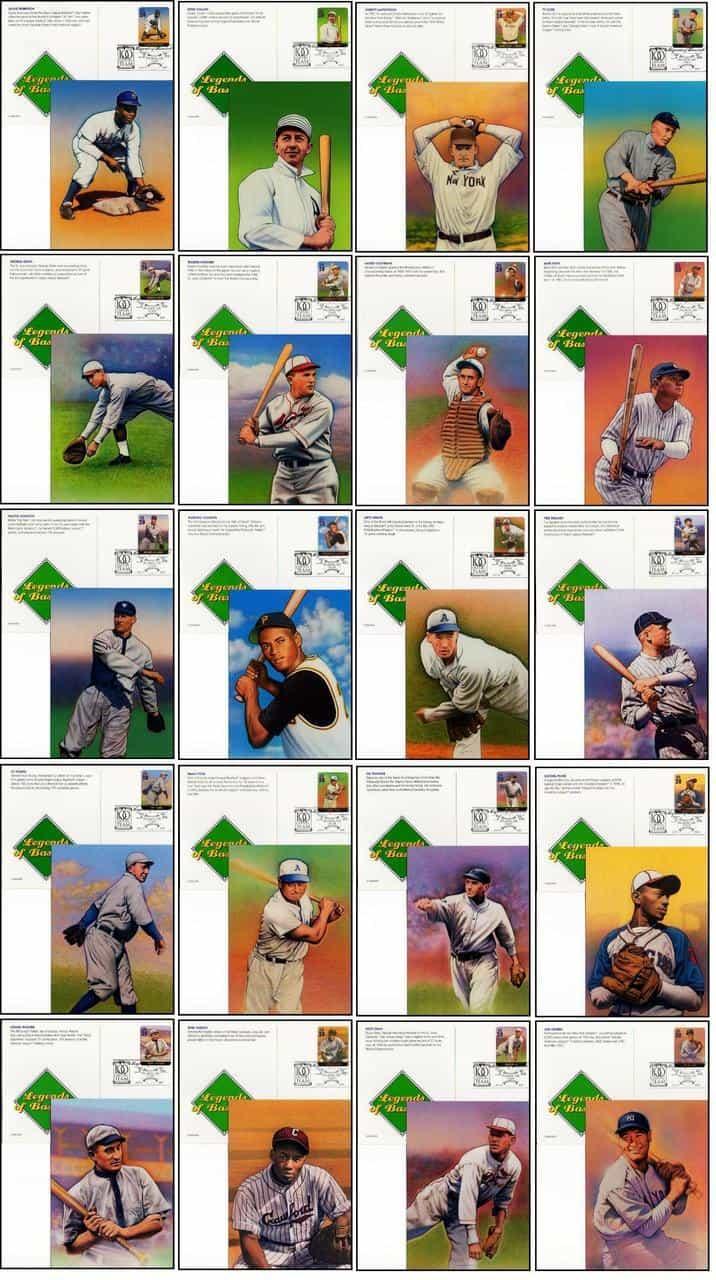 Legends Of Baseball First Day Covers Postal Cards Anchoredscrapscom