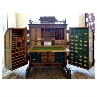 Looking at Wooton Victorian Antique Desk