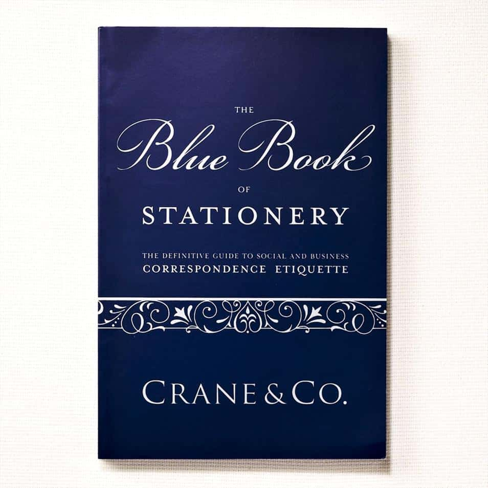 Book Cover Crane Blue Book of Stationery