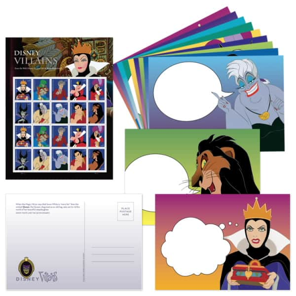 Finding Disney Villains Postcard Set