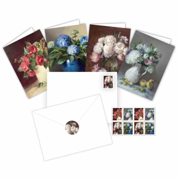 Garden Flowers Notecards Stationery from USPS
