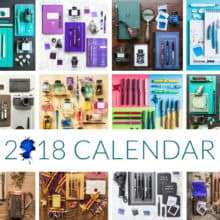 Goulet Fountain Pen 2018 Calendar