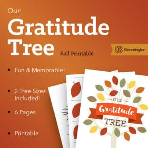 Etsy Thankful Tree Printable