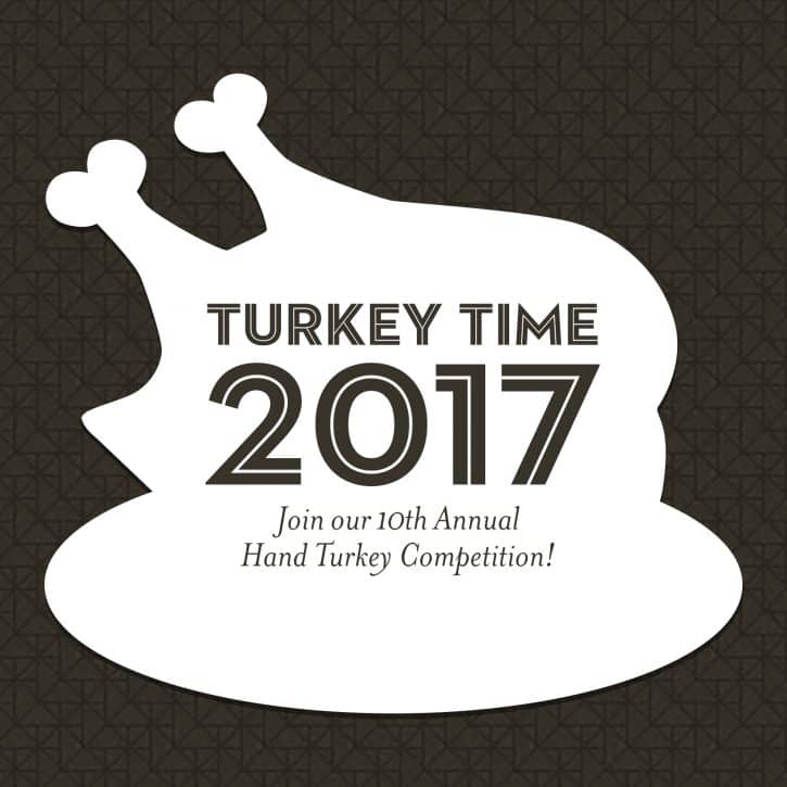 Whimsical 2017 Annual Hand Turkey Competition
