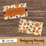 Notable Acorns Thanksgiving Place Cards