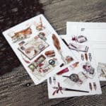 Retro Steampunk Fountain Pen Postcards etsy the stationery life