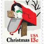 1977 Rural Mailbox Christmas stamp