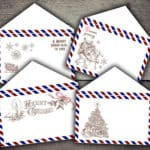 Christmas Air Mail Envelopes Digital Printables