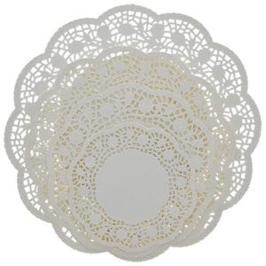 Christmas Dazzling Dollar Doilies at Dollar Tree Multipack Round Paper Doilies in Assorted Sizes