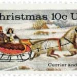 Currier and Ives 1974 Christmas stamp