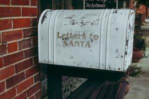 Letters to Santa White mailbox to Santa Claus