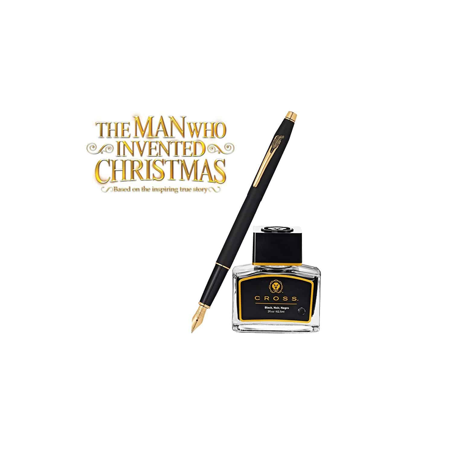 The Man Who Invented Christmas & Cross Fountain Pen