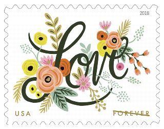 Love Flourishes and Meyer Lemons Stamps