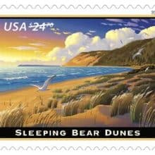 Byodo-In-Temple & Sleeping Bear Dunes Stamp