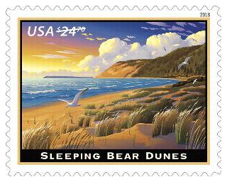 Byodo-In-Temple & Sleeping Bear DunesStamp