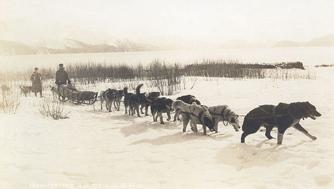 Alaskan Dog Sled Mail Carrier