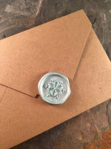 Snowflake Wax Seal Stickers