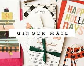 Ginger Mail Stationery Subscription Service