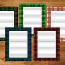 Plaid Stationery PrintableWriting Paper