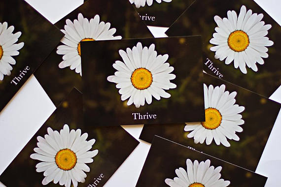 Thrive Encouraging Daisy Postcard by EntreCard