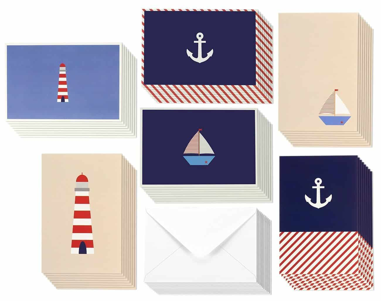 Best Paper Greetings Nautical Notecards