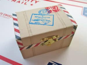 Air Mail Postal Package Trinket Box