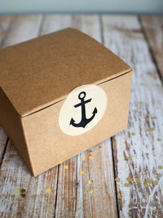 Anchor Brown Kraft Envelope Stickers Déjà vu
