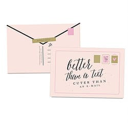 Better Than A Text Postcard Set by Ginger P. Designs