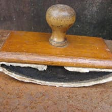 French Vintage Small Wood Rocker Desk Blotter