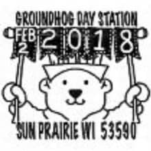 Groundhog Day 2018 Pictorial Postmark