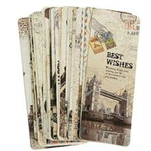 Vintage Retro Bookmarks Set