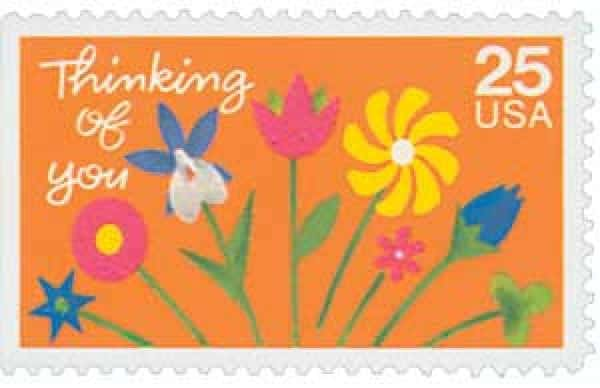 #2397 – 1988 25c Thinking of You US Stamp