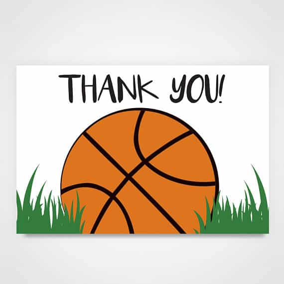 March Madness & Printable Basketball Thank You Cards