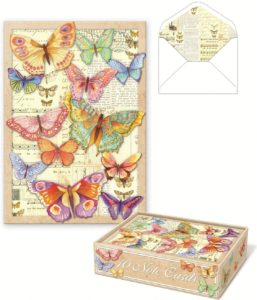 Punch Studio Die-Cut Butterfly Note Cards